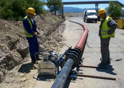 Връзка към дъждовно – дренажна канализация