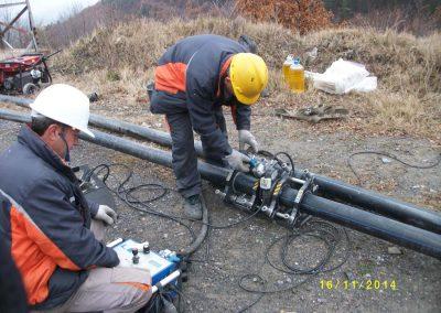 Тръбопровод от HDPE тръби Ф110